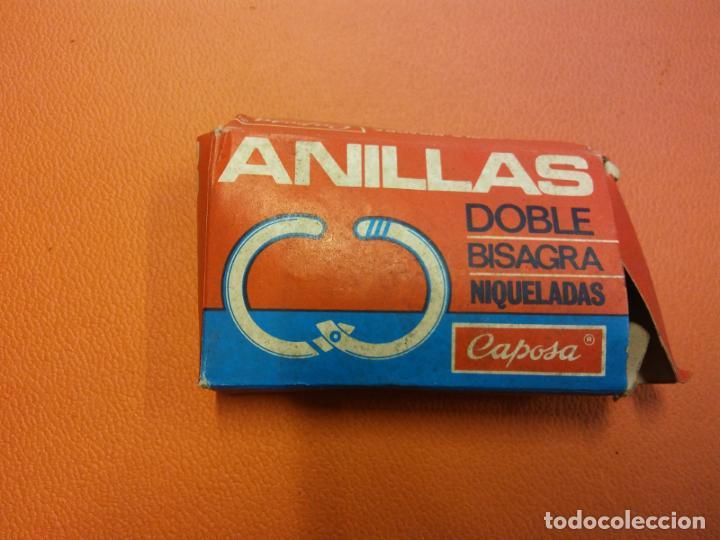 LOTE DE ANILLAS DOBLE BISAGRA Nº 111 DIÁMETRO 20 MM. NIQUELADAS. CAPOSA LO QUE APARECE EN LA FOTO. (Vintage - Varios)
