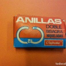 Vintage: LOTE DE ANILLAS DOBLE BISAGRA Nº 111 DIÁMETRO 20 MM. NIQUELADAS. CAPOSA LO QUE APARECE EN LA FOTO. . Lote 194296337