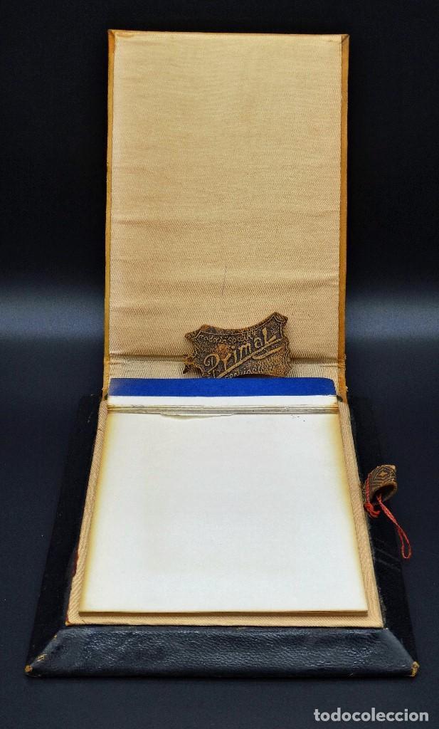 Vintage: Bloc de notas forrado de piel con dibujo en relieve de Quijote - Foto 2 - 194342753