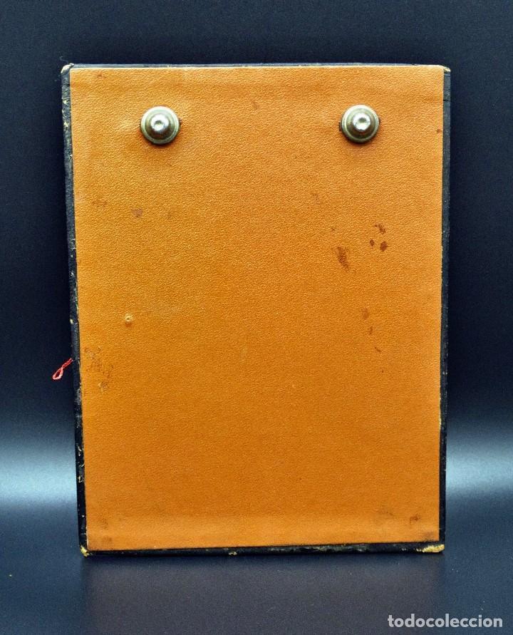 Vintage: Bloc de notas forrado de piel con dibujo en relieve de Quijote - Foto 4 - 194342753