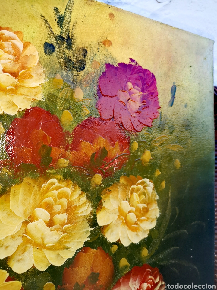 Vintage: Pintura al óleo sobre lienzo - Foto 3 - 194351605