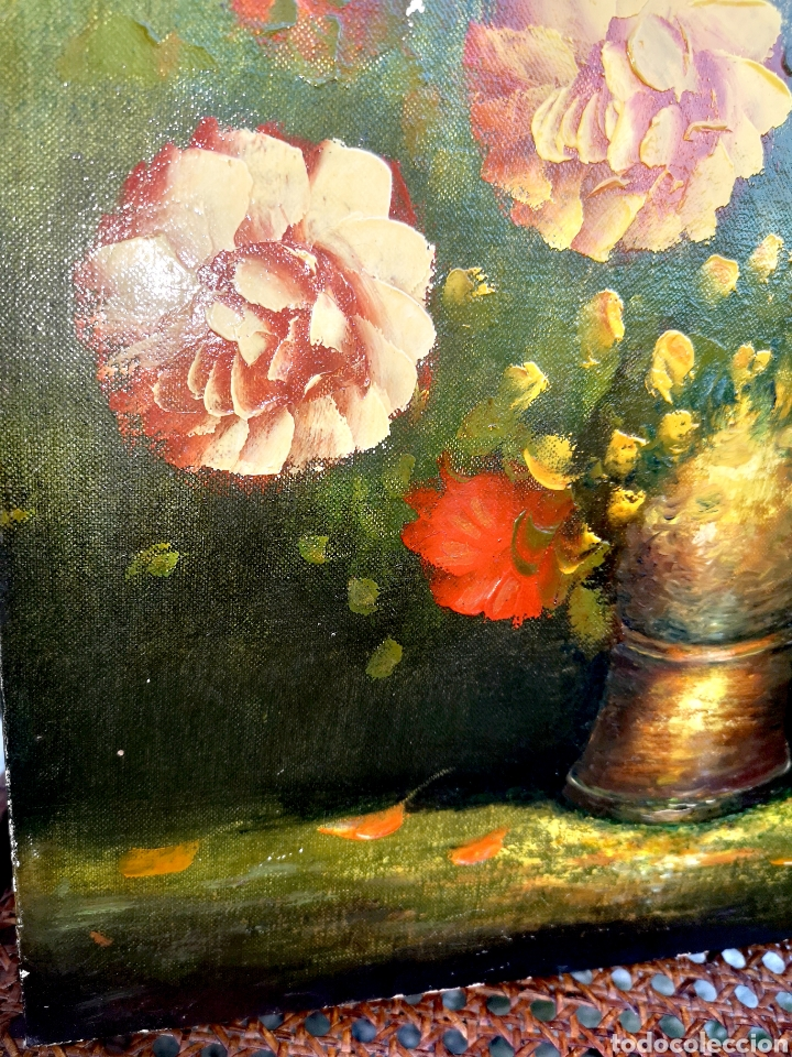Vintage: Pintura al óleo sobre lienzo - Foto 4 - 194351605