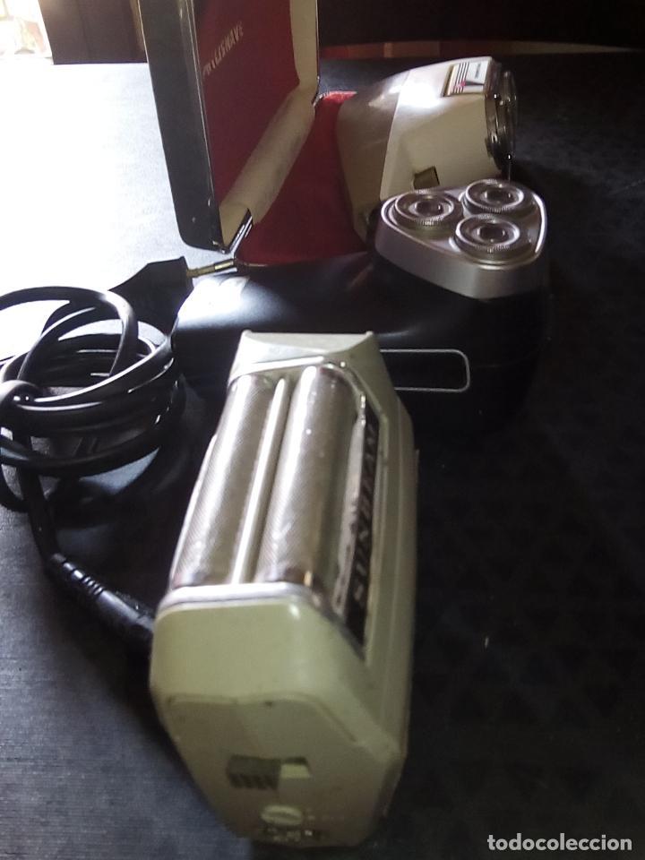 Vintage: 3 Maquinillas Electricas de Afeitar Vintage - PHILIPS PHILISHAVE SC 7910E-01 y SUNBEAM G9- Años 60 - Foto 2 - 194356571