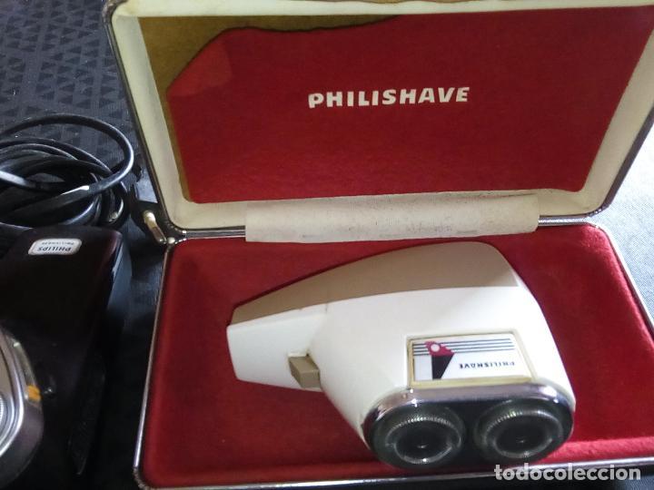 Vintage: 3 Maquinillas Electricas de Afeitar Vintage - PHILIPS PHILISHAVE SC 7910E-01 y SUNBEAM G9- Años 60 - Foto 3 - 194356571