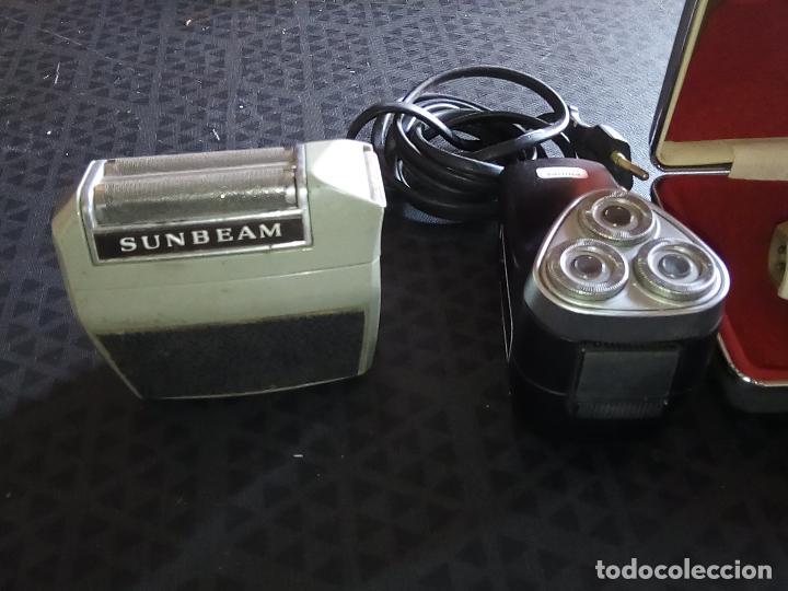 Vintage: 3 Maquinillas Electricas de Afeitar Vintage - PHILIPS PHILISHAVE SC 7910E-01 y SUNBEAM G9- Años 60 - Foto 4 - 194356571
