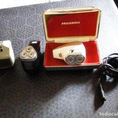 Vintage: 3 MAQUINILLAS ELECTRICAS DE AFEITAR VINTAGE - PHILIPS PHILISHAVE SC 7910E-01 Y SUNBEAM G9- AÑOS 60 . Lote 194356571