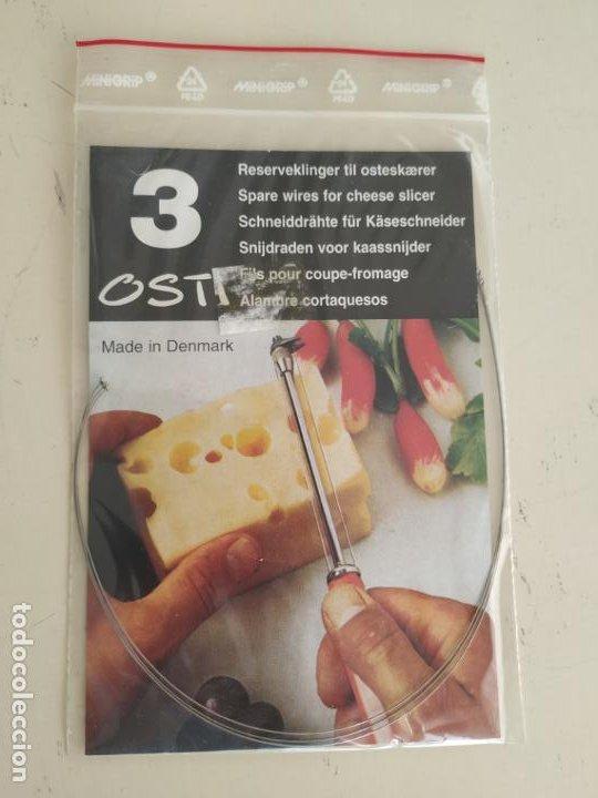 Vintage: Corta quesos Osti + repuesto de 3 alambres - Foto 4 - 194535286