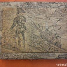 Vintage: HERMOSO COFRE COSTURERO EN MADERA. MEDIDAS 6*17*25 CM. . Lote 194585453