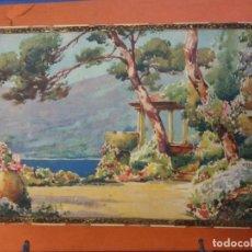 Vintage: HERMOSO COFRE DECORATIVO EN CARTÓN. MEDIDAS 28*8*16 CM. . Lote 194585603