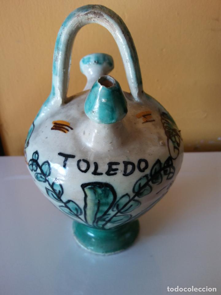 SOUVENIR JARRÓN TOLEDO EN CERÁMICA. MEDIDAS DIÁMETRO 8 CM ALTO 15 CM. (Vintage - Varios)