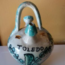 Vintage: SOUVENIR JARRÓN TOLEDO EN CERÁMICA. MEDIDAS DIÁMETRO 8 CM ALTO 15 CM.. Lote 194588390