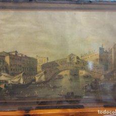 Vintage: CUADRO LAMINA DE VENECIA. MEDIDAS: 22*34 CM. Lote 194589603