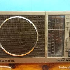 Vintage: RADIO GRUNDIG. AM-FM PORTABLE RADIO. MUSIC BOY 60. MEDIDAS: 21*12*4 CM. Lote 194589793