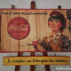 Vintage: CARTEL RETRO COCA-COLA FRANCIA 74X57. Lote 194666647