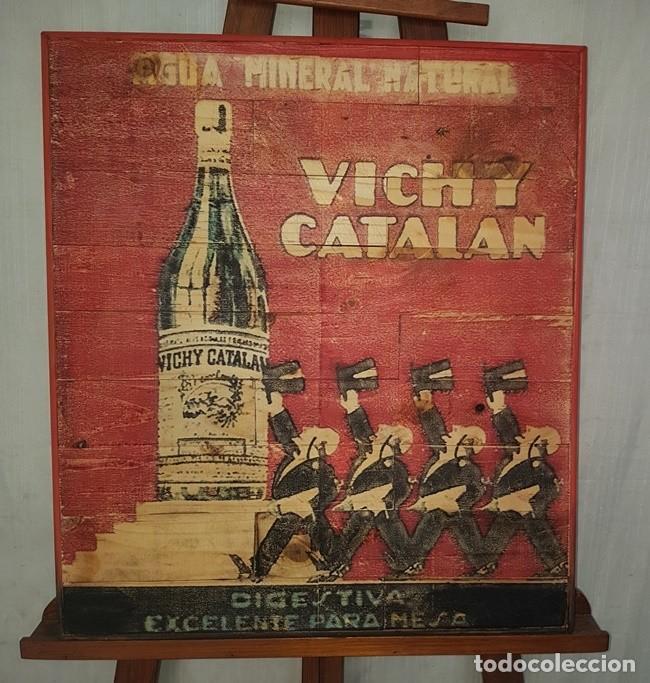 CARTEL RETRO AGUA VICHY CATALAN (Vintage - Decoración - Varios)