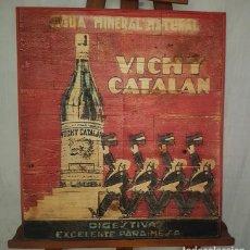 Vintage: CARTEL RETRO AGUA VICHY CATALAN. Lote 194666997