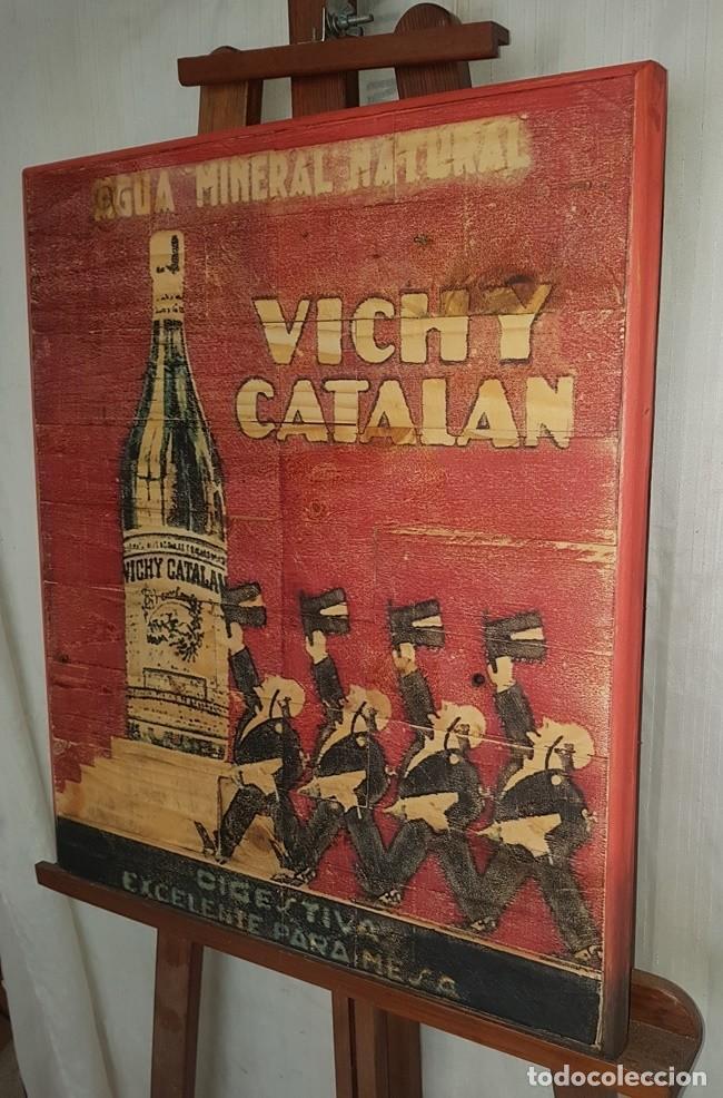 Vintage: CARTEL RETRO AGUA VICHY CATALAN - Foto 3 - 194666997