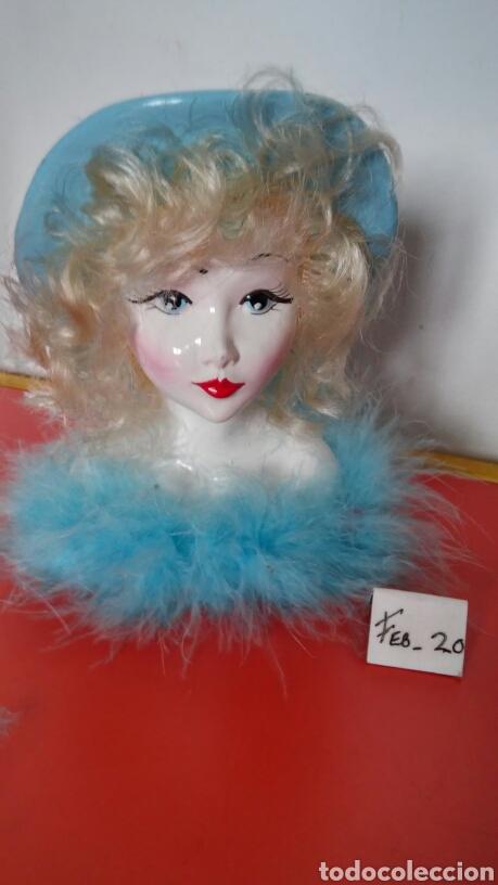 CABEZA MUÑECA ESCAYOLA (15 CM) 90S.SIN USO. (Vintage - Decoración - Varios)