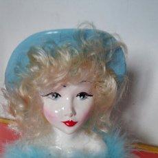 Vintage: CABEZA MUÑECA ESCAYOLA (15 CM) 90S.SIN USO.. Lote 194667145