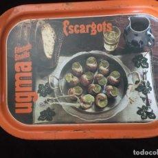 Vintage: ANTIGUA BANDEJA FRANCESA DE ESCARGOTS (CARACOLES). Lote 194688565