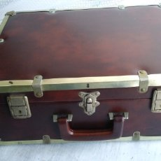 Vintage: MALETA VINTAGE DE PIEL .. Lote 194784865