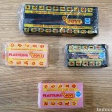 Vintage: LOTE DE 4 PLASTILINAS, AÑOS 80. NUEVA DE TIENDA.. Lote 194873832