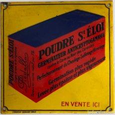 Vintage: PLACA ESMALTADA DE PUBLICIDAD -POUDRE ST.ÉLOI-. Lote 194877945