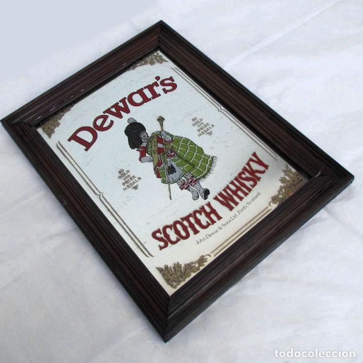 CUADRO ESPEJO DE DEWAR'S SCOTCH WHISKY (Vintage - Decoración - Varios)