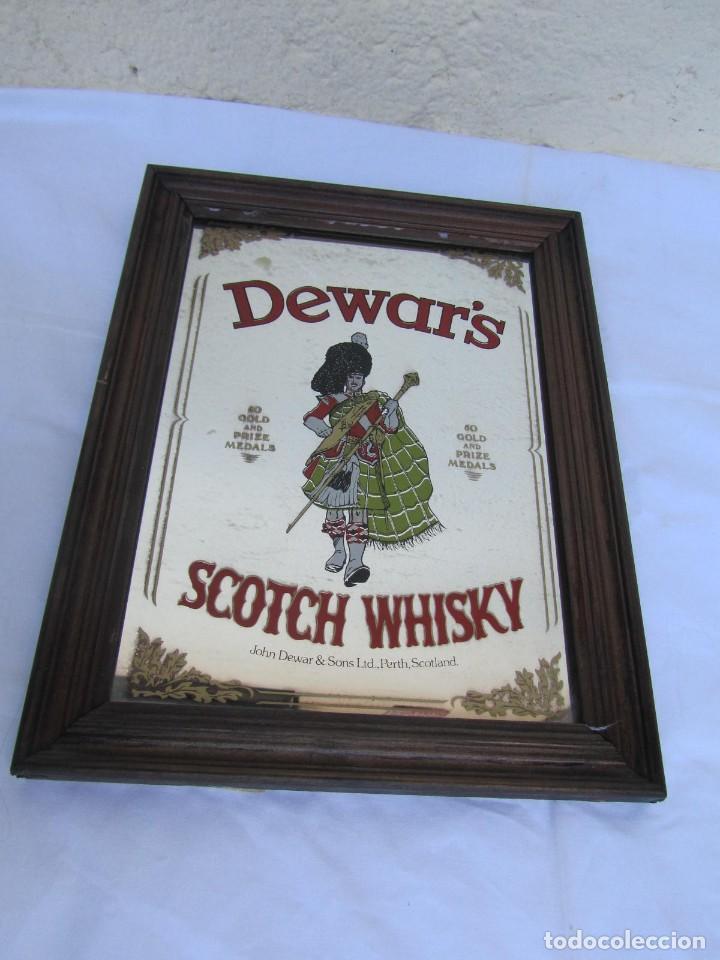 Vintage: Cuadro espejo de Dewars Scotch Whisky - Foto 2 - 194878865
