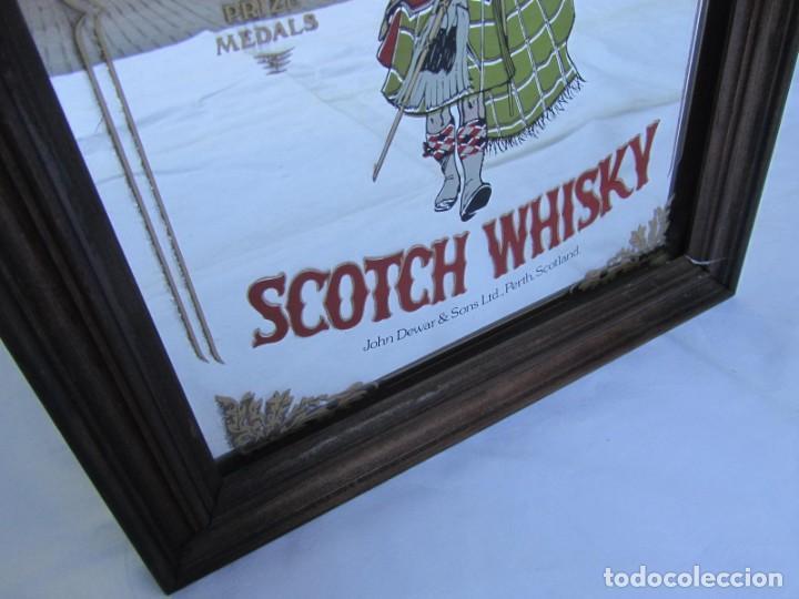 Vintage: Cuadro espejo de Dewars Scotch Whisky - Foto 3 - 194878865