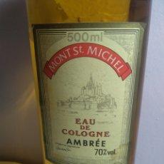 Vintage: MONT ST MICHEL EAU DE COLOGNE AMBREE MADE IN FRANCE HUGE 500 ML SPLASH VINTAGE. Lote 194885450