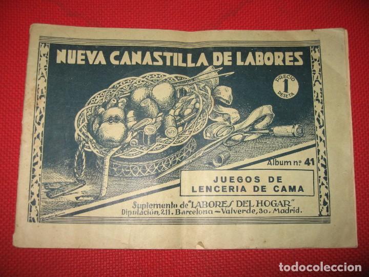 NUEVA CANASTILLA DE LABORES DE LENCERÍA DE CAMA (Vintage - Varios)