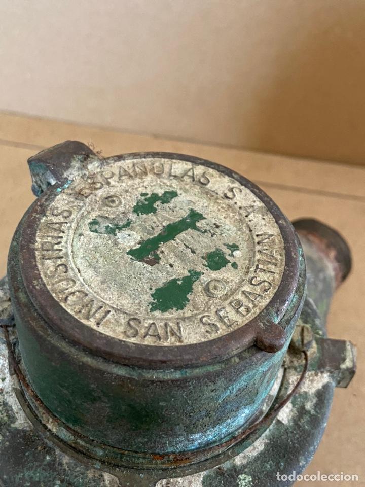 Vintage: Antiguo contador de agua en bronce Tavira, Elorriaga. Industrias españolas s.a. San Sebastián. 1965 - Foto 12 - 194936976