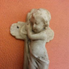 Vintage: RECORDATORIO. ANGEL DURMIENDO EN LA CRUZ. MEDIDAS 8*5 CM. Lote 195098550