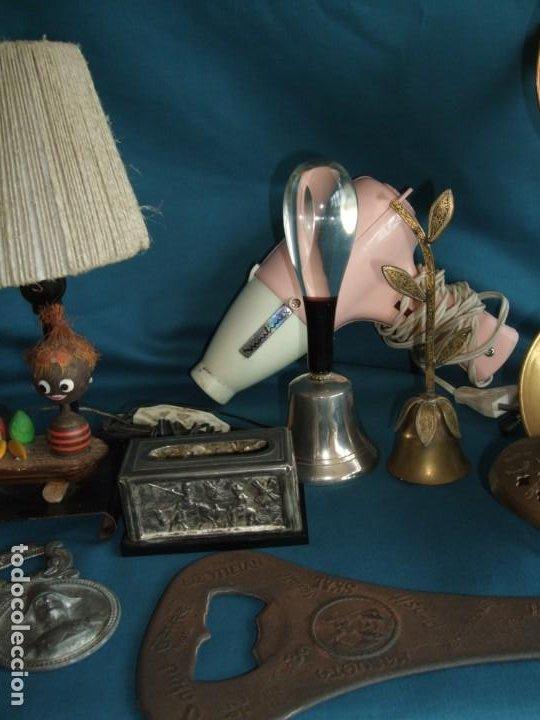 Vintage: NUMEROSOS ARTÍCULOS DECORACIÓN VINTAGE. METAL. BRONCE. LAMPARA, SECADOR - Foto 9 - 195185036
