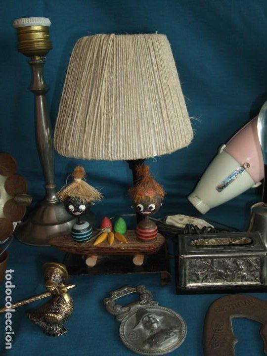 Vintage: NUMEROSOS ARTÍCULOS DECORACIÓN VINTAGE. METAL. BRONCE. LAMPARA, SECADOR - Foto 19 - 195185036