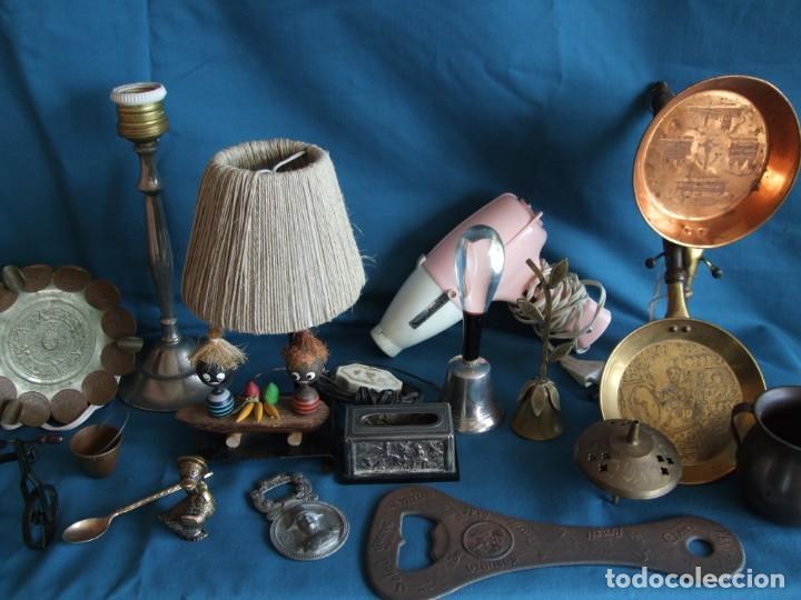 Vintage: NUMEROSOS ARTÍCULOS DECORACIÓN VINTAGE. METAL. BRONCE. LAMPARA, SECADOR - Foto 8 - 195185036