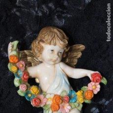 Vintage: ANGEL ANGELITO CON FLORES DE SIMONETTI ITALIA , PARA COLGAR. Lote 195307901