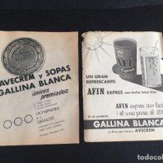 Vintage: PUBLICIDAD VINTAGE, AVECREM GALLINA BLANCA.. Lote 195317493