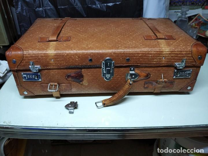 Vintage: Maleta marca Giovanni, Real Classic Styles, Trade Mark, Natural Explorer. Tiene fácil reparación. - Foto 2 - 195341226
