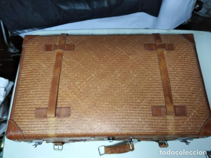 Vintage: Maleta marca Giovanni, Real Classic Styles, Trade Mark, Natural Explorer. Tiene fácil reparación. - Foto 6 - 195341226