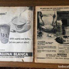 Vintage: PUBLIDIDAD VINTAGE.MAIZENA. GALLINA BLANCA.. Lote 195354463