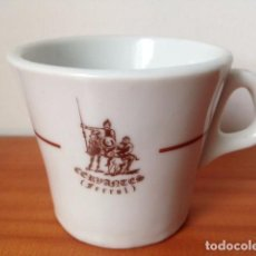 Vintage: TAZA DE CAFÉ DE CAFERERÍA CERVANTES, FERROL. SANTA CLARA. DON QUIJOTE SANCHO PANZA. Lote 195421312