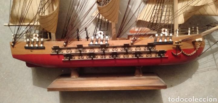 Vintage: Fragata de madera y tela - Foto 2 - 195490302