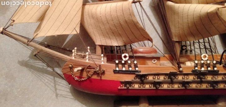 Vintage: Fragata de madera y tela - Foto 4 - 195490302