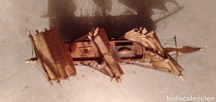 Vintage: Fragata de madera y tela - Foto 5 - 195490302
