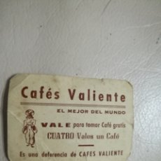 Vintage: VALE CAFES VALIENTE. Lote 195511928