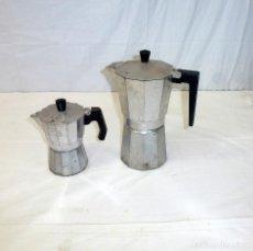Vintage: LOTE DE 2 CAFETERAS DE ALUMINIO.. Lote 195518346