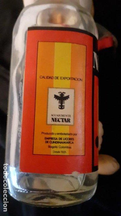 Vintage: AGUARDIENTE NECTAR. BOTELLA MINIATURA. ORIGINAL COLOMBIA AÑOS 80. - Foto 5 - 196032536
