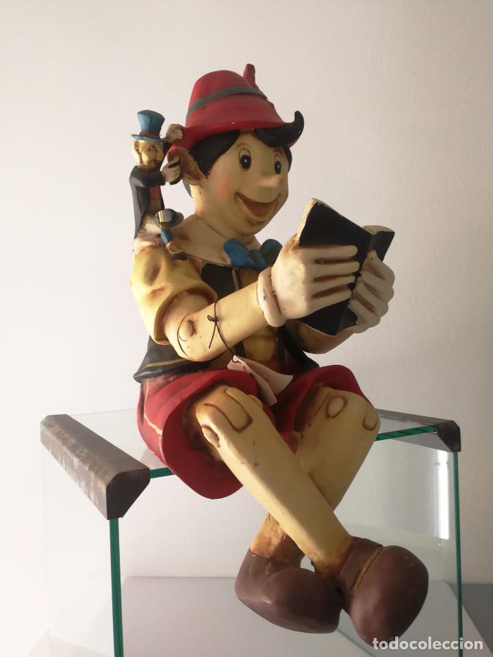 Vintage: PINOCHO leyendo figura DISNEY de gran tamaño 1998 - Foto 2 - 196172406